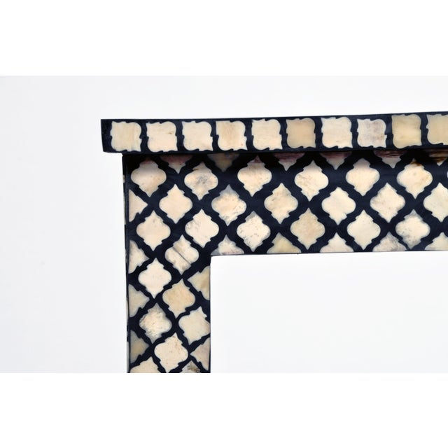 Bone Inlay Console Table For Sale In Chicago - Image 6 of 13