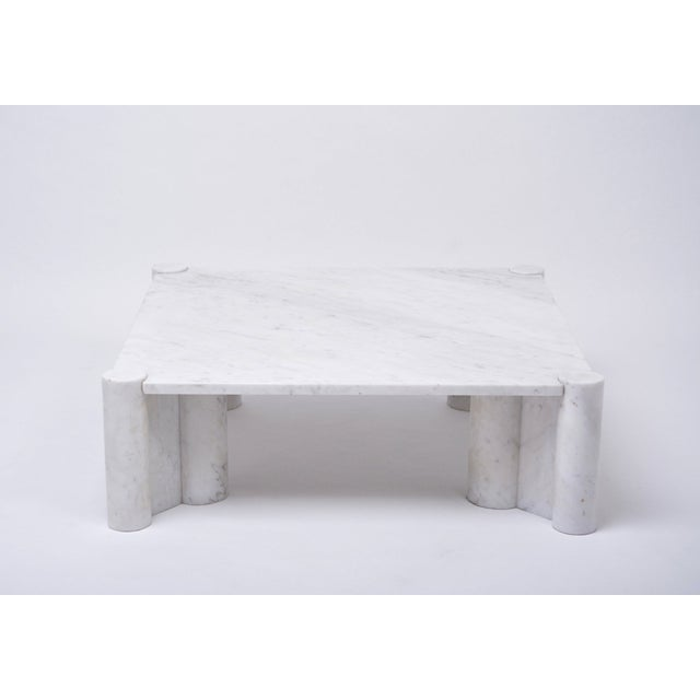 1960s Jumbo White Marble Coffee Table by Gae Aulenti, 1970s For Sale - Image 5 of 11