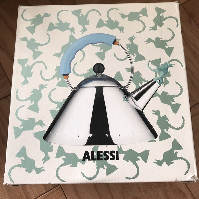 Michael Graves for Alessi 30th Anniversary edition of Tea Rex tea kettle, in original box. Was a display model and never...