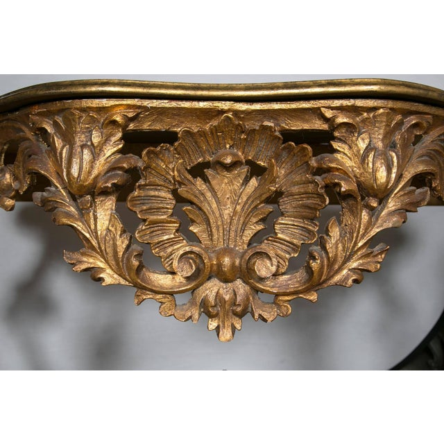 Italian Italian Giltwood Consoles with Faux Marble - Pair For Sale - Image 3 of 7