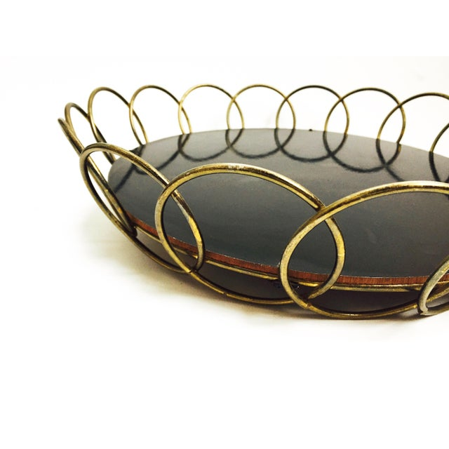 Mid-Century Brass Wire Tray - Image 4 of 6