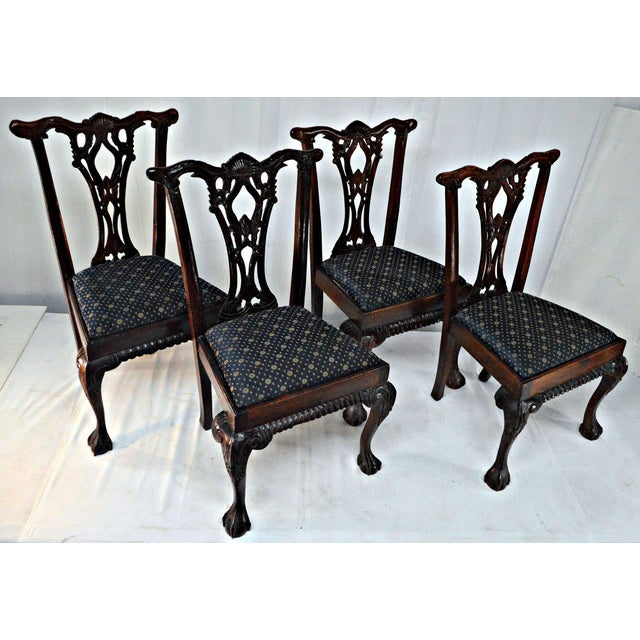 Chippendale Mahogany Dining Chairs - Set of 4 - Image 4 of 9