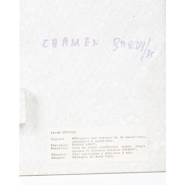 Metal Carmen Bardy Eternit Panel Art For Sale - Image 7 of 9