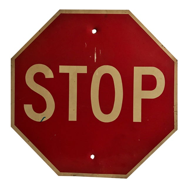 Industrial Stop Road Sign - Image 1 of 6