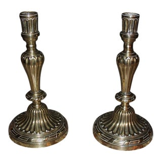 18th Century Louis XVI Gilt Bronze Candle Holders - a Pair For Sale