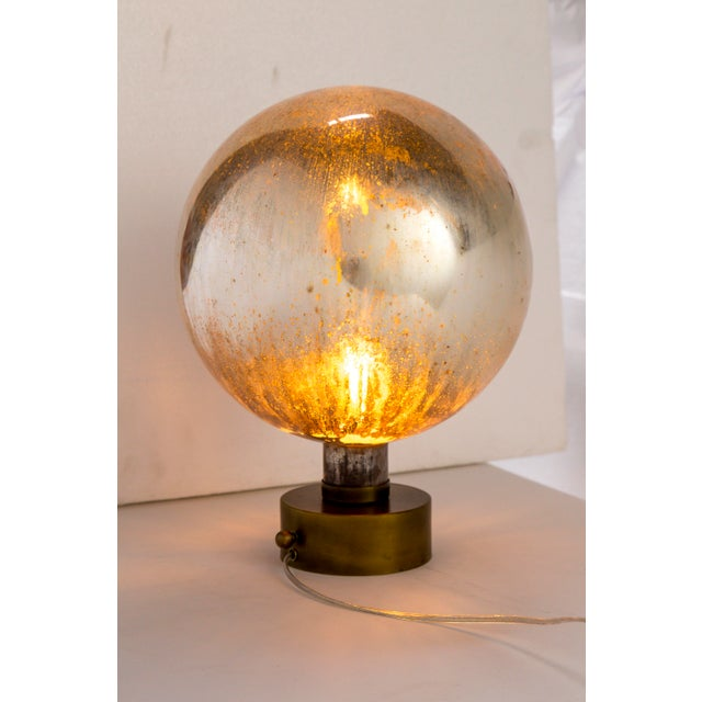 Mercury Glass Sphere Table Lamp For Sale - Image 13 of 13