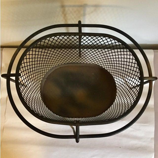 Mid-Century Maurice Duchin Iron Mesh Wastebasket For Sale In Richmond - Image 6 of 7