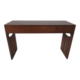 Henry P. Glass Styled Walnut Desk