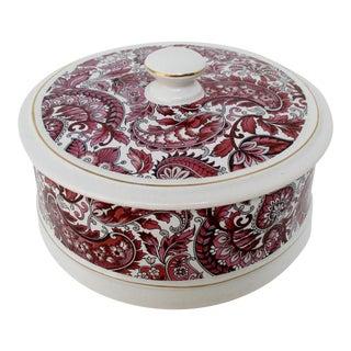 Pink & Burgundy Ceramic Container