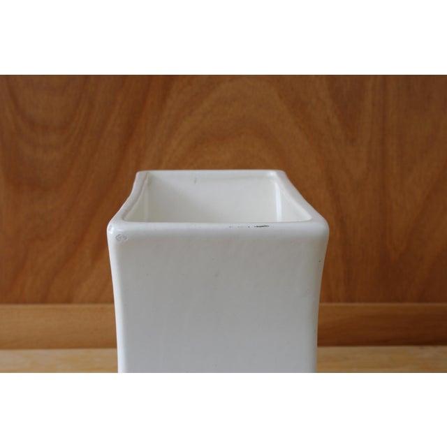 Ceramic White Haeger Tulip Vase For Sale - Image 7 of 9