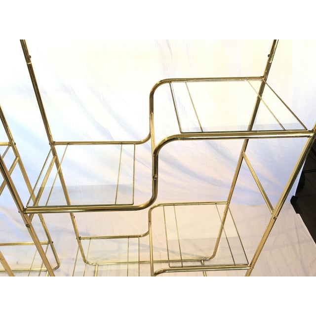 Regency Brass & Glass Etageres - A Pair - Image 4 of 4