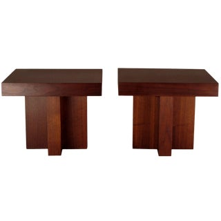 Pair of Occasional Tables by Milo Baughman For Sale