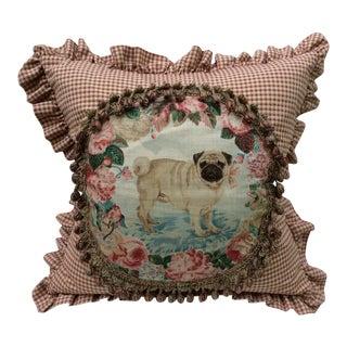 "Lee Jofa ""Pug"" Pillow For Sale"
