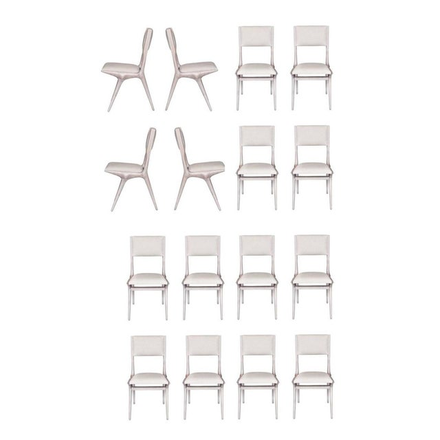 Set of 16 Boone Dining Chairs For Sale In New York - Image 6 of 6