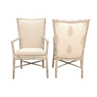 "McGuire ""Cambria"" Fautieuil Chairs - A Pair For Sale"