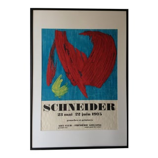 Schneider Vintage French Art Exhibition Poster For Sale