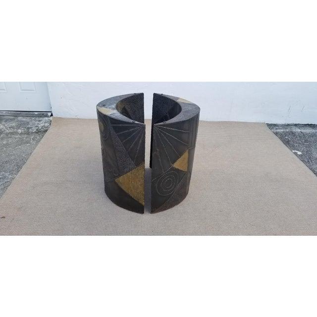 Brutalist Paul Evans Sculptural Dining Table Base - 2 Pieces For Sale - Image 13 of 13