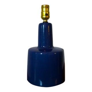 Mid-Century Modern Jane and Gordon Martz Blue Ceramic Table Lamp For Sale