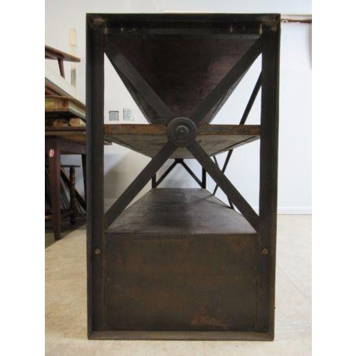 Industrial Reclaimed Steel Console For Sale - Image 4 of 6