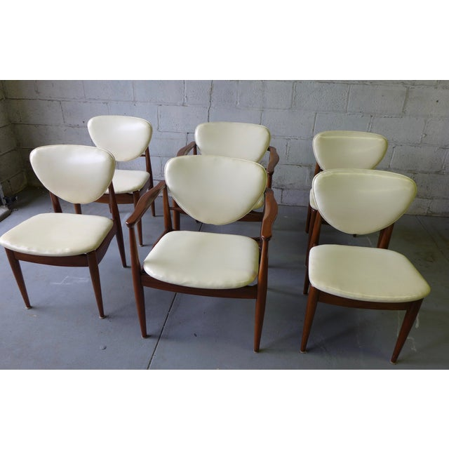 Mid-Century John Stuart Dining Chairs - S/6 For Sale - Image 5 of 7