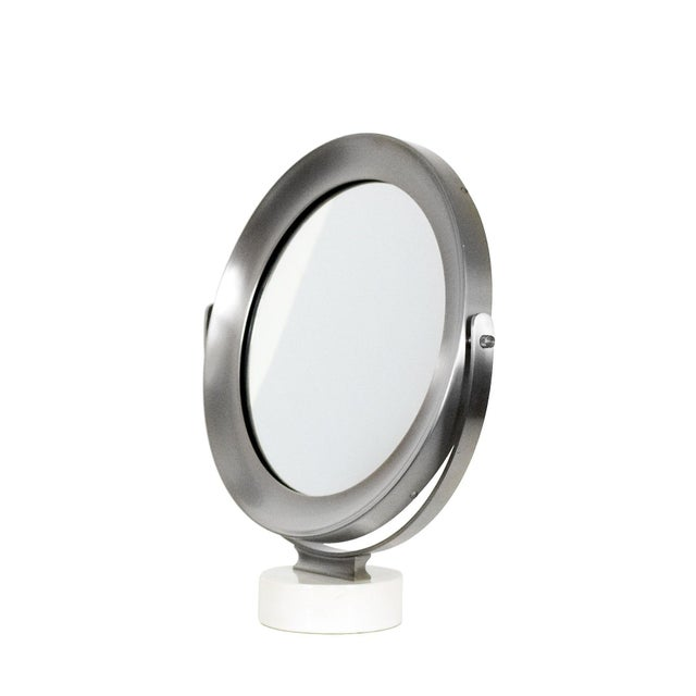 Mid-Century Modern 1960s Pivoting Vanity-Table Mirror by Sergio Mazza, White Marble, Italy For Sale - Image 3 of 10