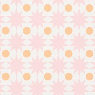 Sample - Schumacher Cosmos Wallpaper in Pink For Sale