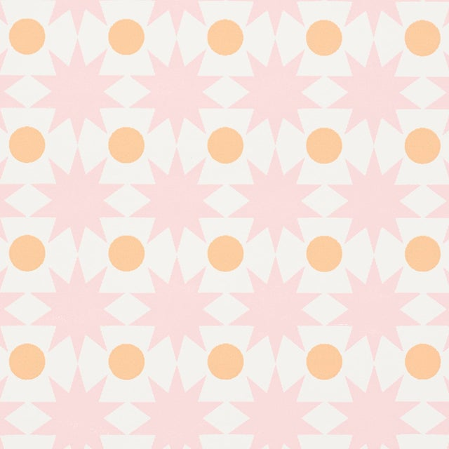 Sample - Schumacher Cosmos Wallpaper in Pink For Sale