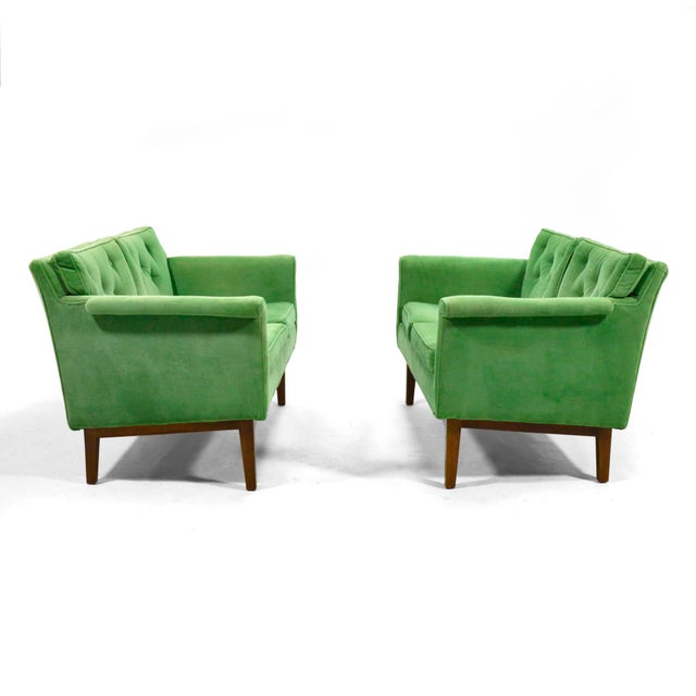 Mid-Century Modern Edward Wormley Pair of Sofas / Settees For Sale - Image 3 of 10