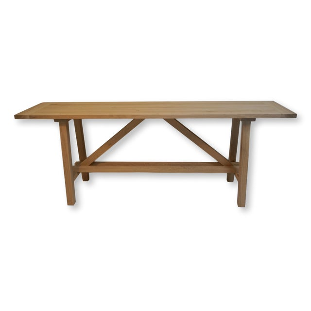 Bohemian Works Natural Wood Extra Long Console Table For Sale - Image 9 of 9