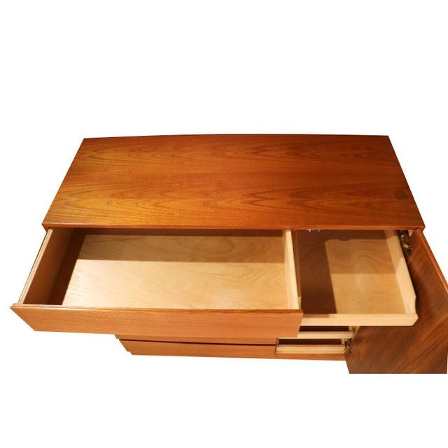 Brown Danish Modern Teak Storage Gents Chest Dresser For Sale - Image 8 of 10