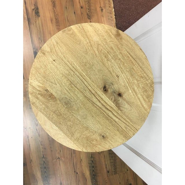 Gold Mid-Century Modern Sheesham Wood and Antique Brass Side Table For Sale - Image 8 of 11