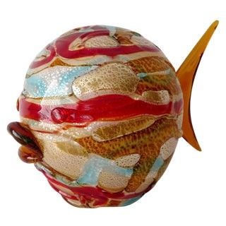 Multicolor Fish Sculpture by Maestro Camozzo For Sale
