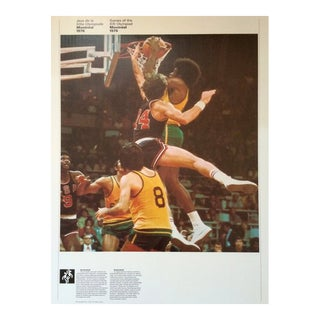 1976 Montreal Olympic Poster, Double-Sided, Basketball/Pentathlon - Cojo