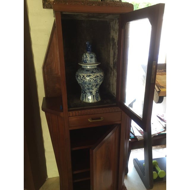Brown Vitrine Wooden Showcase For Sale - Image 8 of 11