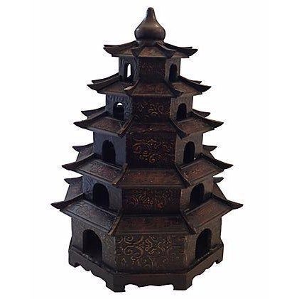 Chinoiserie Carved Wood Pagoda - Image 1 of 3
