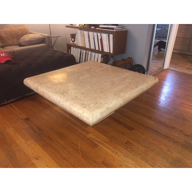 1970s Organic Modern Tesselated Fossilized Stone Coffee Table Karl Springer Style For Sale - Image 11 of 13