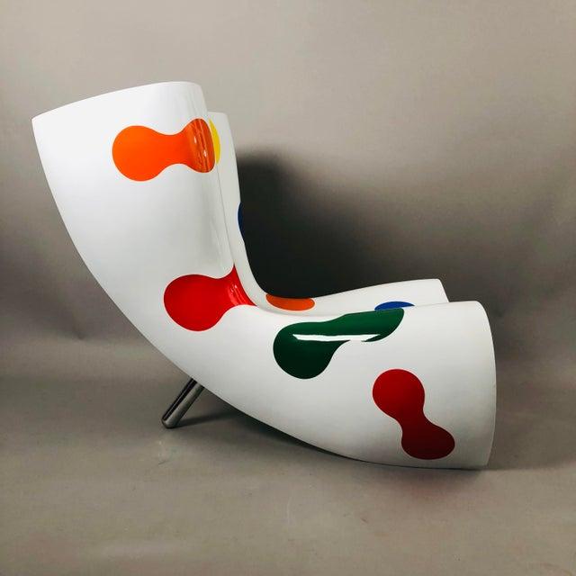 Marc Newson Limited Edition Felt Chair For Sale In New York - Image 6 of 9