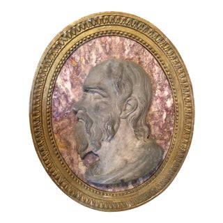 Roman Marble Relief Portrait of Seneca For Sale