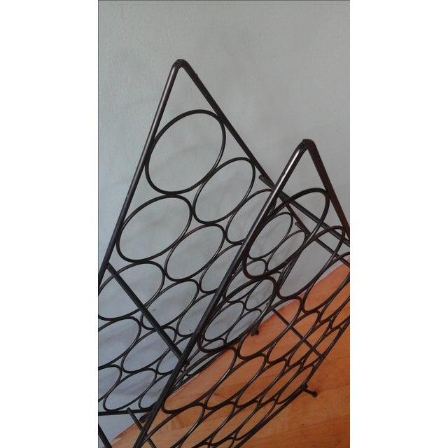 Vintage Mid-Century Metal Wire Diamond Wine Rack - Image 4 of 4