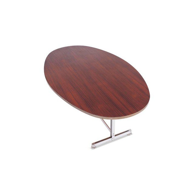 1960s Jules Wabbes Oval Dining Table for Mobilier Universel For Sale - Image 5 of 9