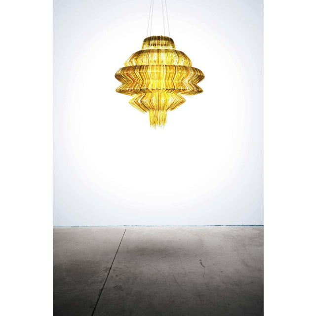 Brilli D Chandelier in Gold Resin by Jacopo Foggini For Sale - Image 4 of 7