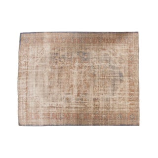 "Vintage Distressed Oushak Carpet - 7'9"" X 9'11"" For Sale"