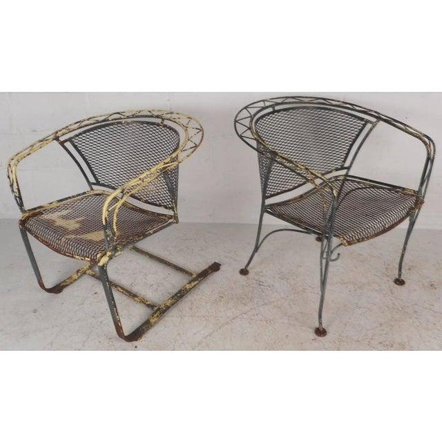 Vintage Salterini Style Wrought Iron Patio Set Chairish