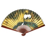 Image of Vintage Japanese Mid Century Hand Crafted and Signed Bamboo Fan For Sale