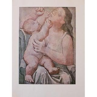 1971 Pablo Picasso, Maternite Period Parisian Photogravure Print For Sale