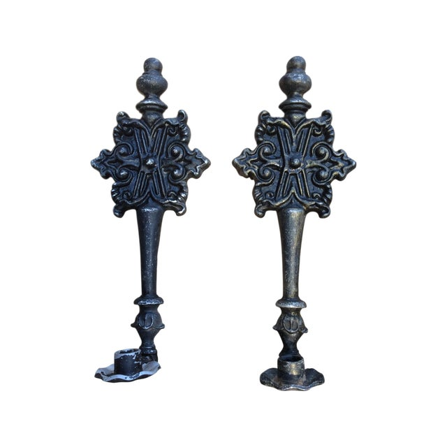 Vintage Hoda Shabby Chic Wall Candlesticks - Pair - Image 1 of 6