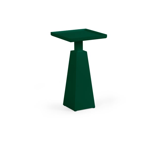 Transitional Casa Cosima Hayes Spot Table, Chrome Green For Sale - Image 3 of 3