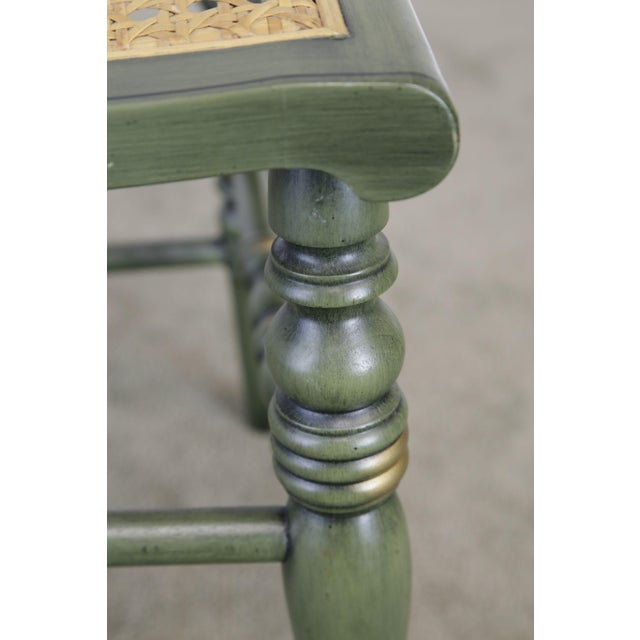 """Hitchcock """"The Adam's Old House"""" Green Painted Side Chair For Sale - Image 10 of 13"""
