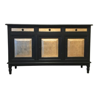 European Style Black & Gold Cabinet