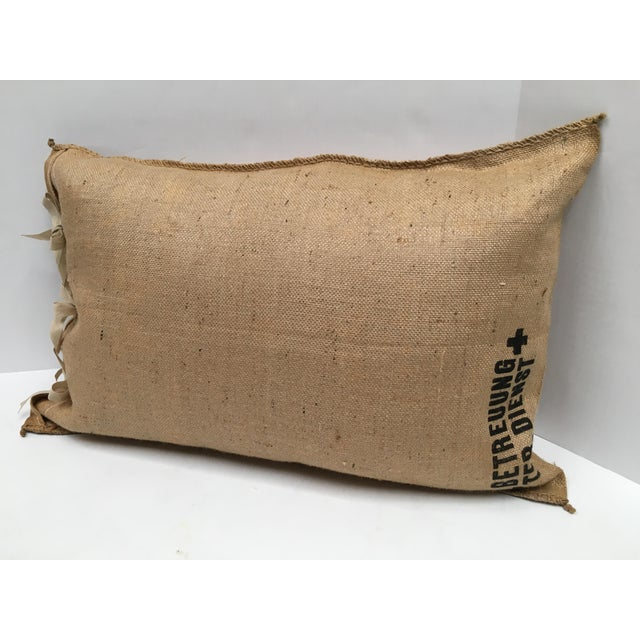 Custom European Grain Sack Pillows - A Pair For Sale - Image 5 of 7